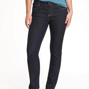 OLD NAVY curvy mid rise straight jeans NWT 12S